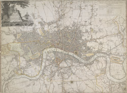 Laurie and Whittle's new map of London with its environs, 1809-10
